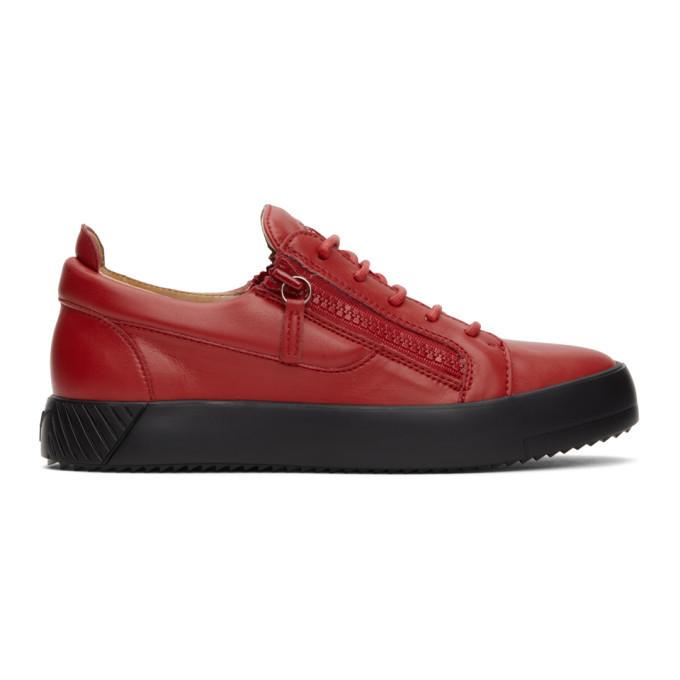 Photo: Giuseppe Zanotti Red July Traze Sneakers