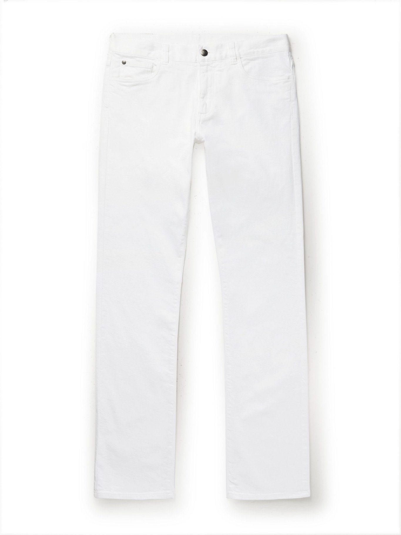 Photo: CANALI - Slim-Fit Stretch-Denim Jeans - White - 46