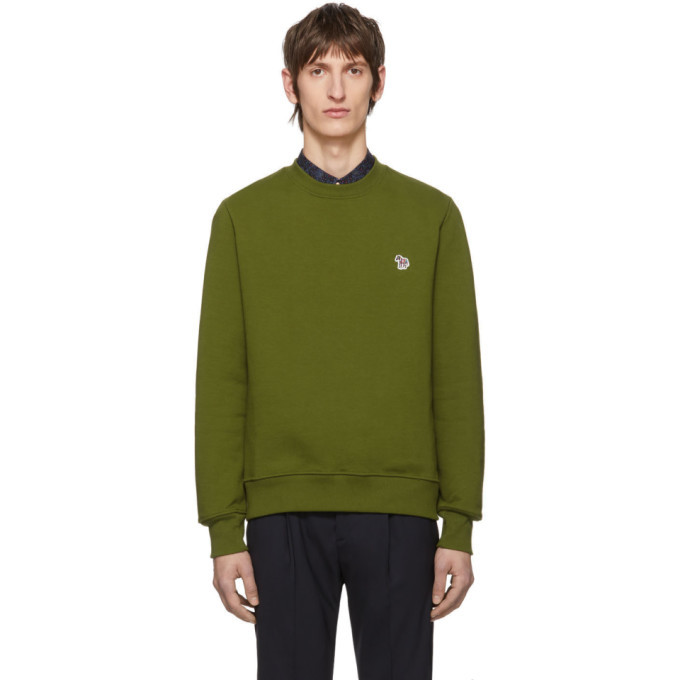 Photo: PS by Paul Smith Green Zebra Logo Sweatshirt