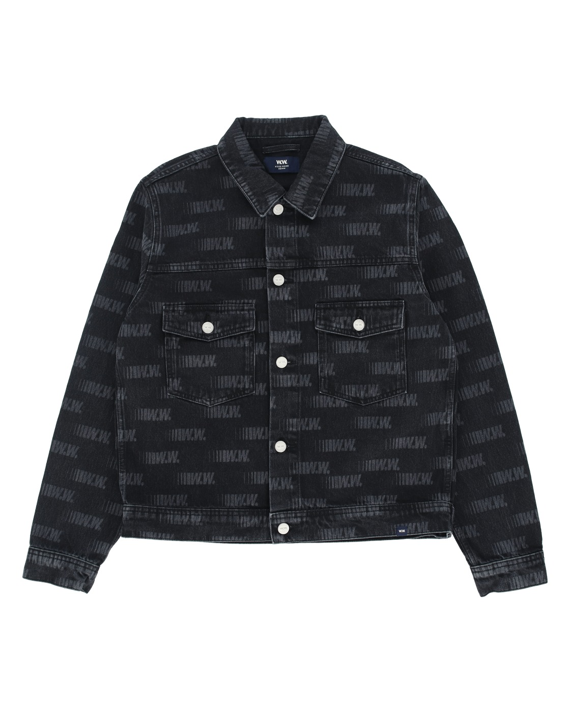 Photo: Wood Wood Cam Denim Jacket Black Aop