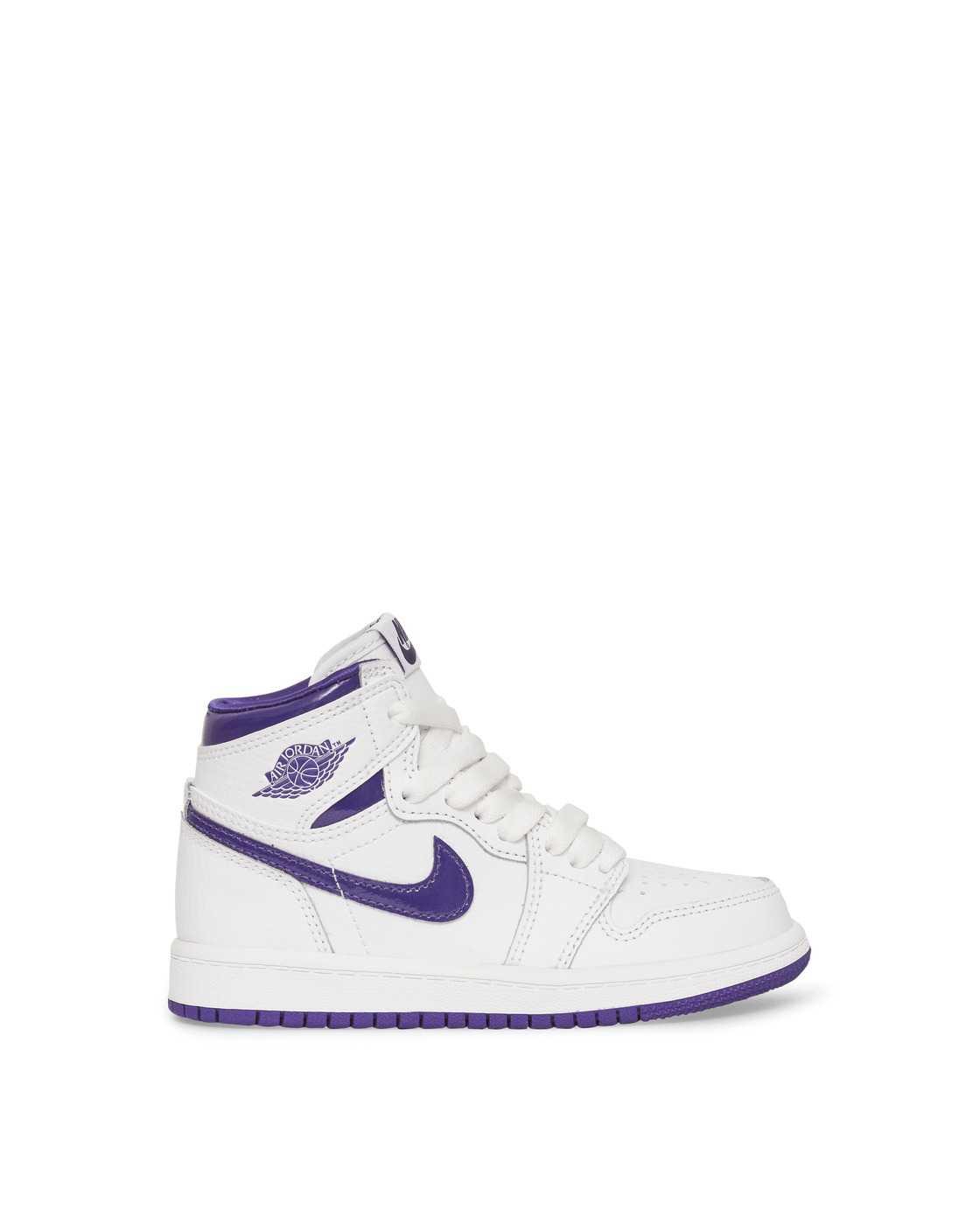 Photo: Nike Jordan Air Jordan 1 Retro Hi Og Ps Sneakers White/Court Purple