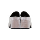 3.1 Phillip Lim Pink Velvet Cube Mules