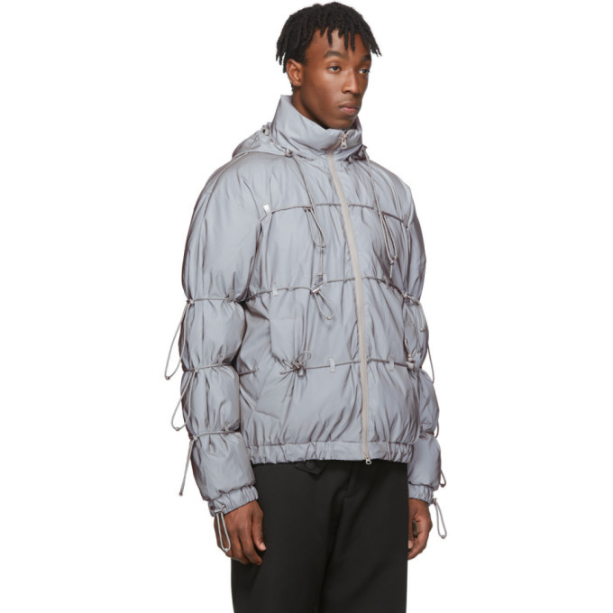 Post Archive Faction PAF Silver Down Reflective String Jacket