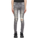 Ksubi Grey Van Winkle Scribbles Jeans