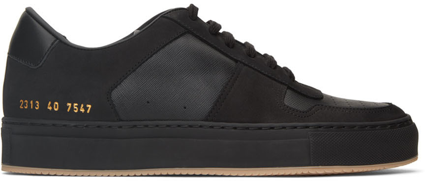 Photo: Common Projects Black BBall Low Sneakers