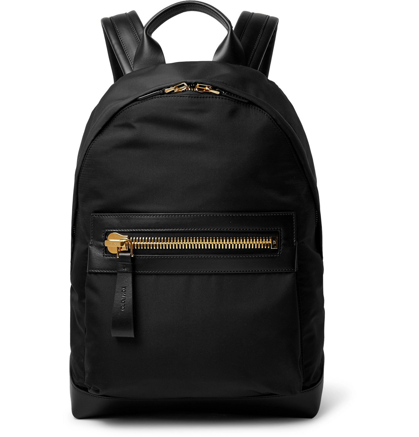 Photo: TOM FORD - Leather-Trimmed Nylon Backpack - Black