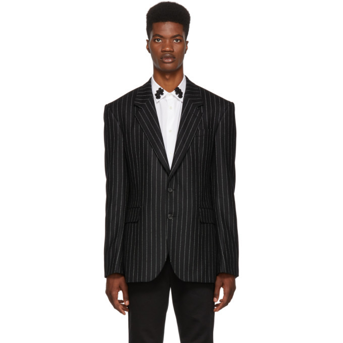 Photo: Alexander McQueen Black and White Pinstripe Blazer