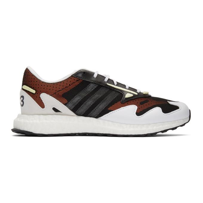 Photo: Y-3 Black and White Rhisu Run Sneakers