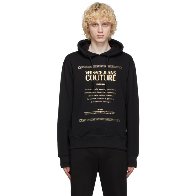 Photo: Versace Jeans Couture Black Warranty Label Hoodie