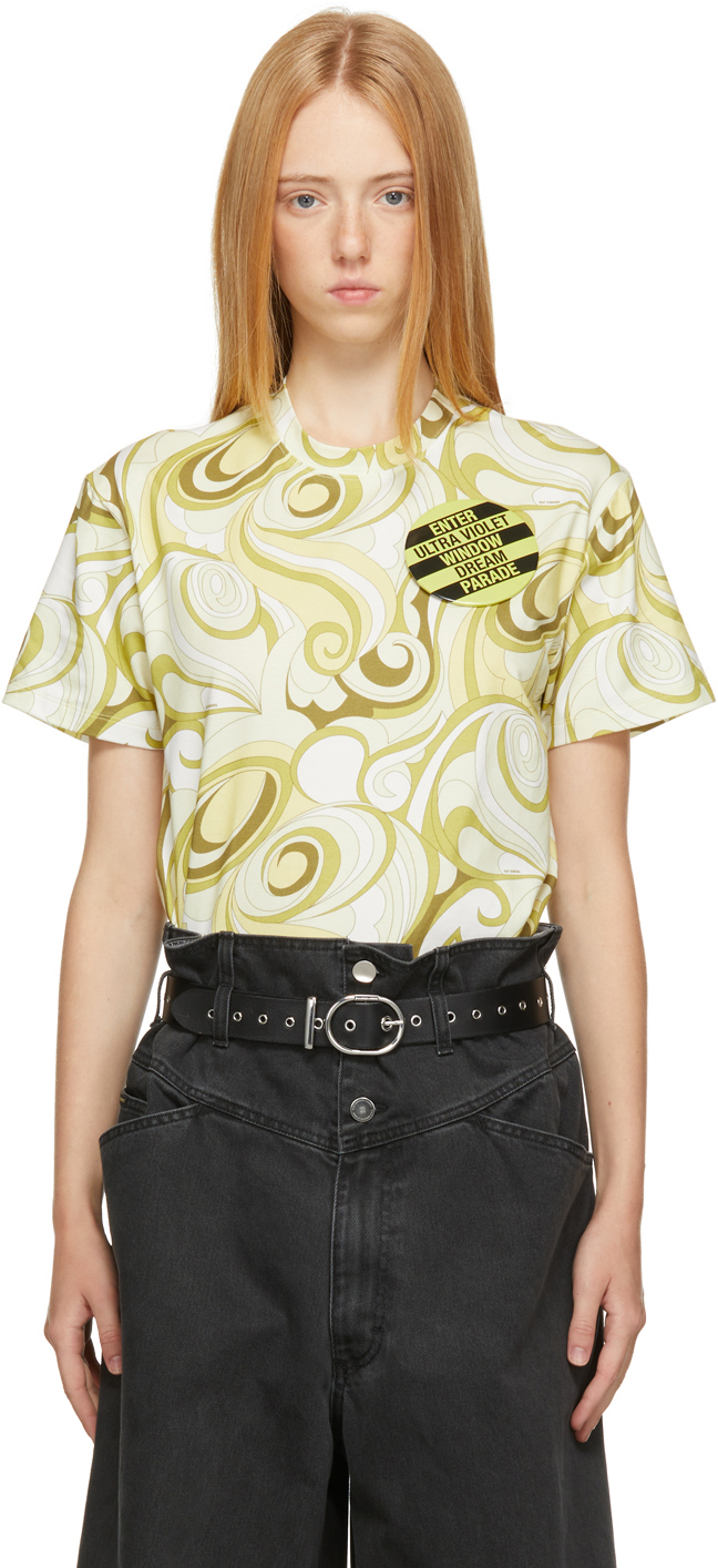 Photo: Raf Simons Green & Yellow Graphic T-Shirt