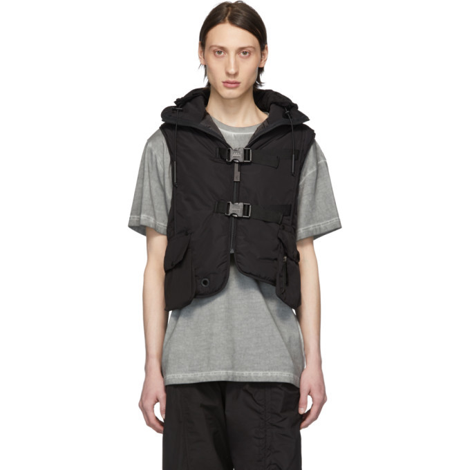 Photo: A-Cold-Wall* Black Step Front Padded Crop Vest