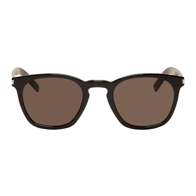 Photo: Saint Laurent Black Slim SL 28 Sunglasses