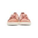 adidas Originals Pink and White Pigskin Nubuck Campus Sneakers
