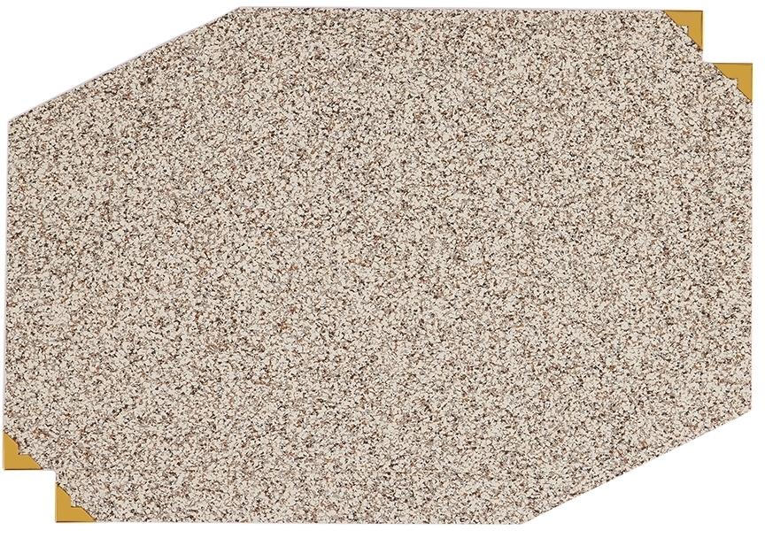 Slash Objects Grey & Beige Polygon Placement Mat Set