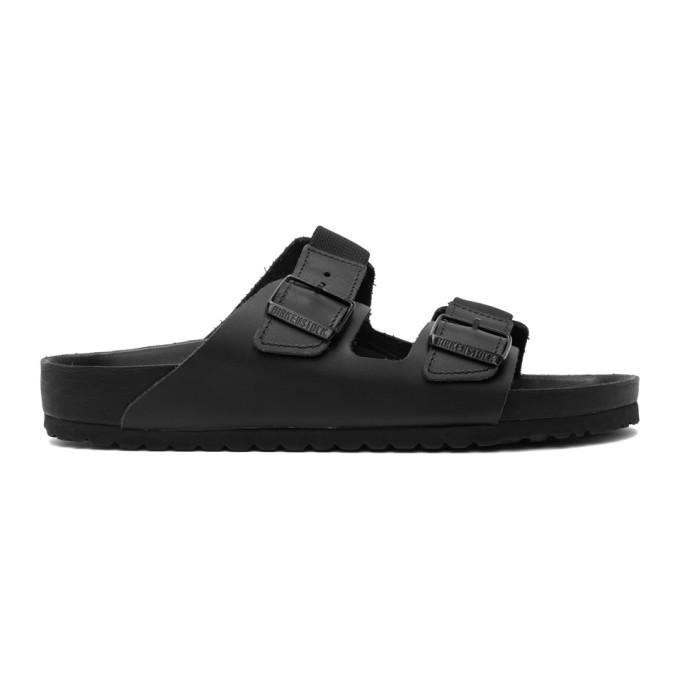 Photo: Random Identities Black Birkenstock Edition Leather Arizona Sandals