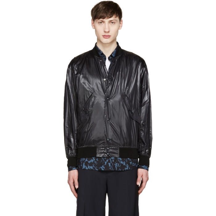 Photo: Toga Virilis Black Nylon Bomber Jacket