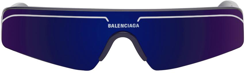Photo: Balenciaga Navy Mask Sunglasses