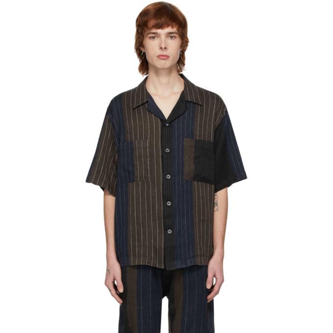 Photo: Barena Navy and Brown Striped Shirt