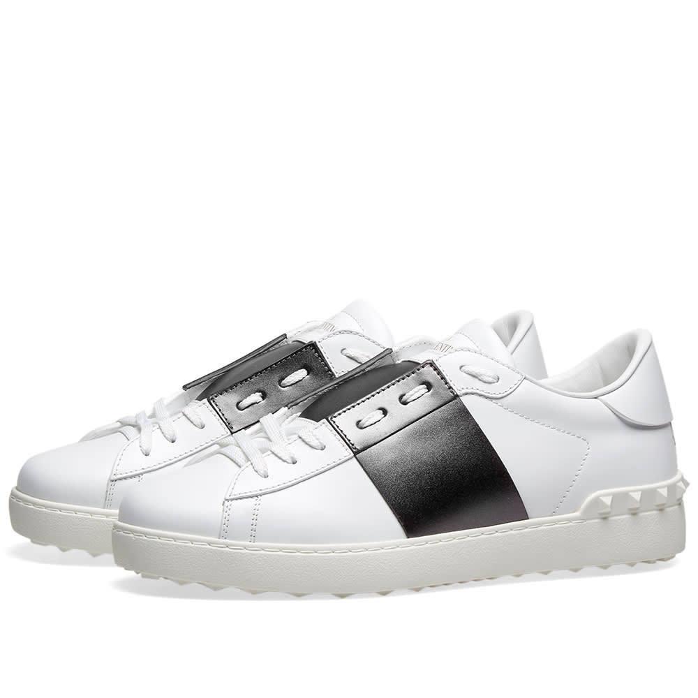 Photo: Valentino Metallic Open Low Top Sneaker