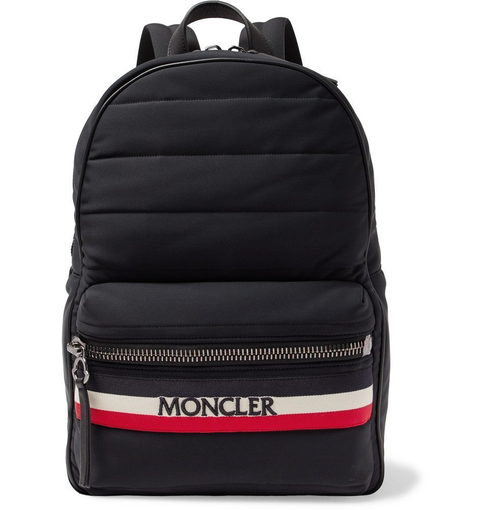 Photo: Moncler - New George Webbing and Leather-Trimmed Quilted Shell Backpack - Men - Black