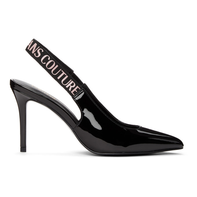 Photo: Versace Jeans Couture Black Chloe Slingback Heel