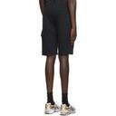 C.P. Company Black Light Jersey Garment Dyed Cargo Shorts