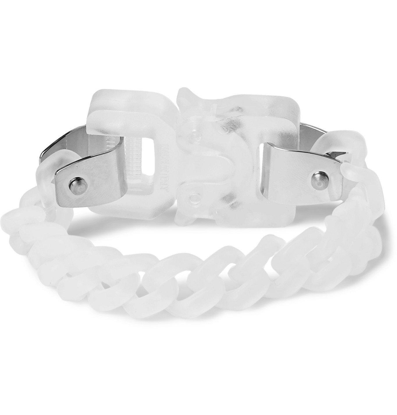 1017 ALYX 9SM - Acrylic and Silver-Tone Bracelet - White