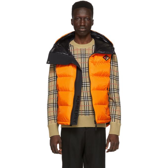 Photo: Burberry Orange Down Winslow Hooded Vest
