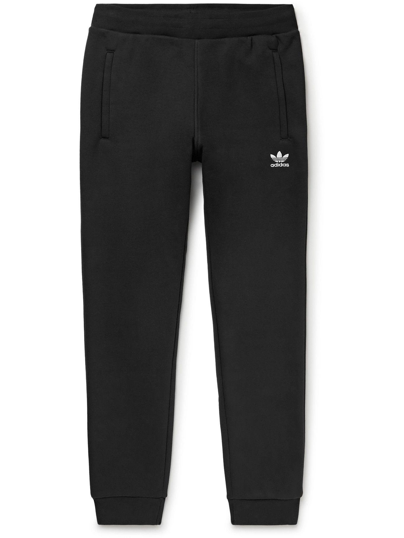 Photo: adidas Originals - Adicolor Slim-Fit Tapered Cotton-Blend Jersey Sweatpants - Black