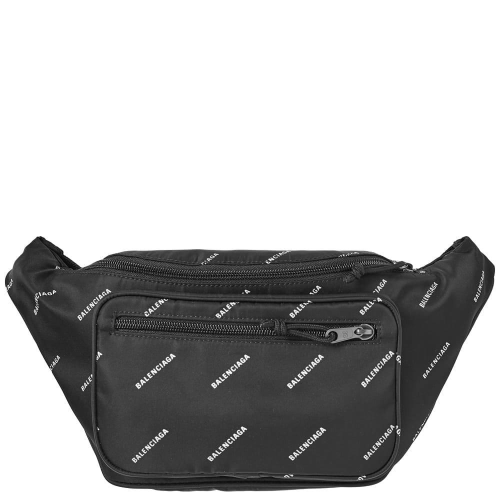 Print Logo Nylon Waist Bag Balenciaga