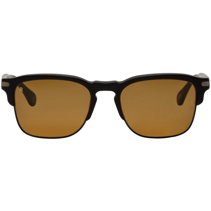 Photo: RAEN Black and Yellow Matte Wiley Sunglasses