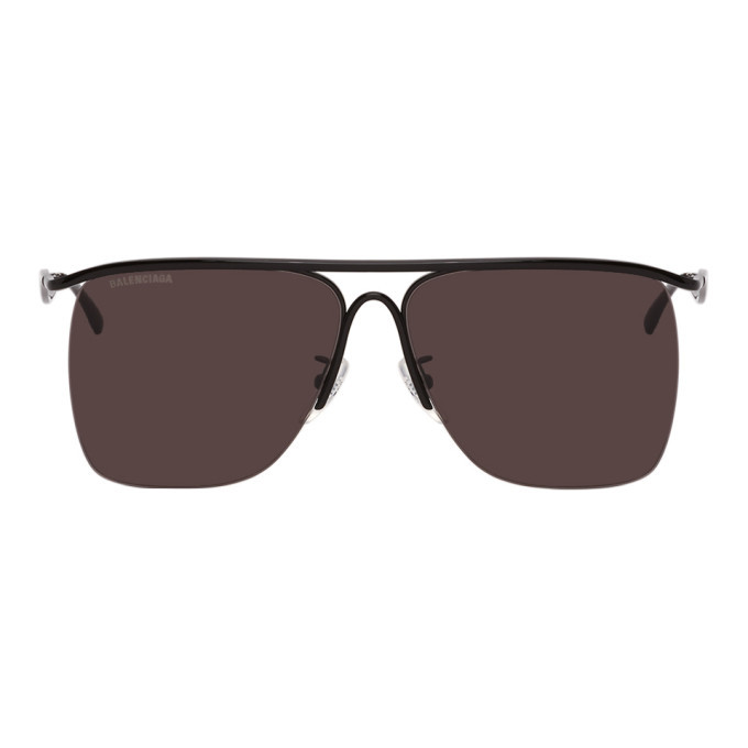 Photo: Balenciaga Black Aviator Sunglasses