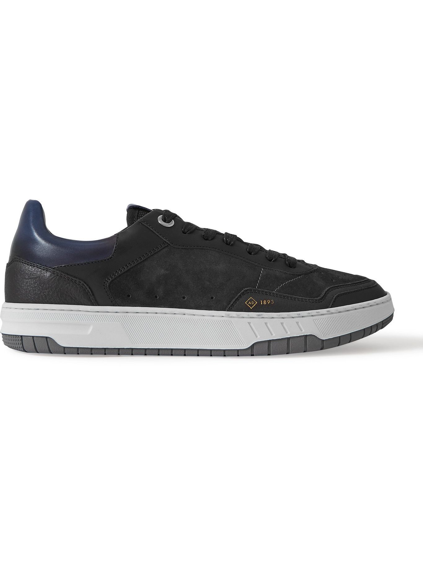 Photo: DUNHILL - Court Elite Lux Suede and Leather Sneakers - Black