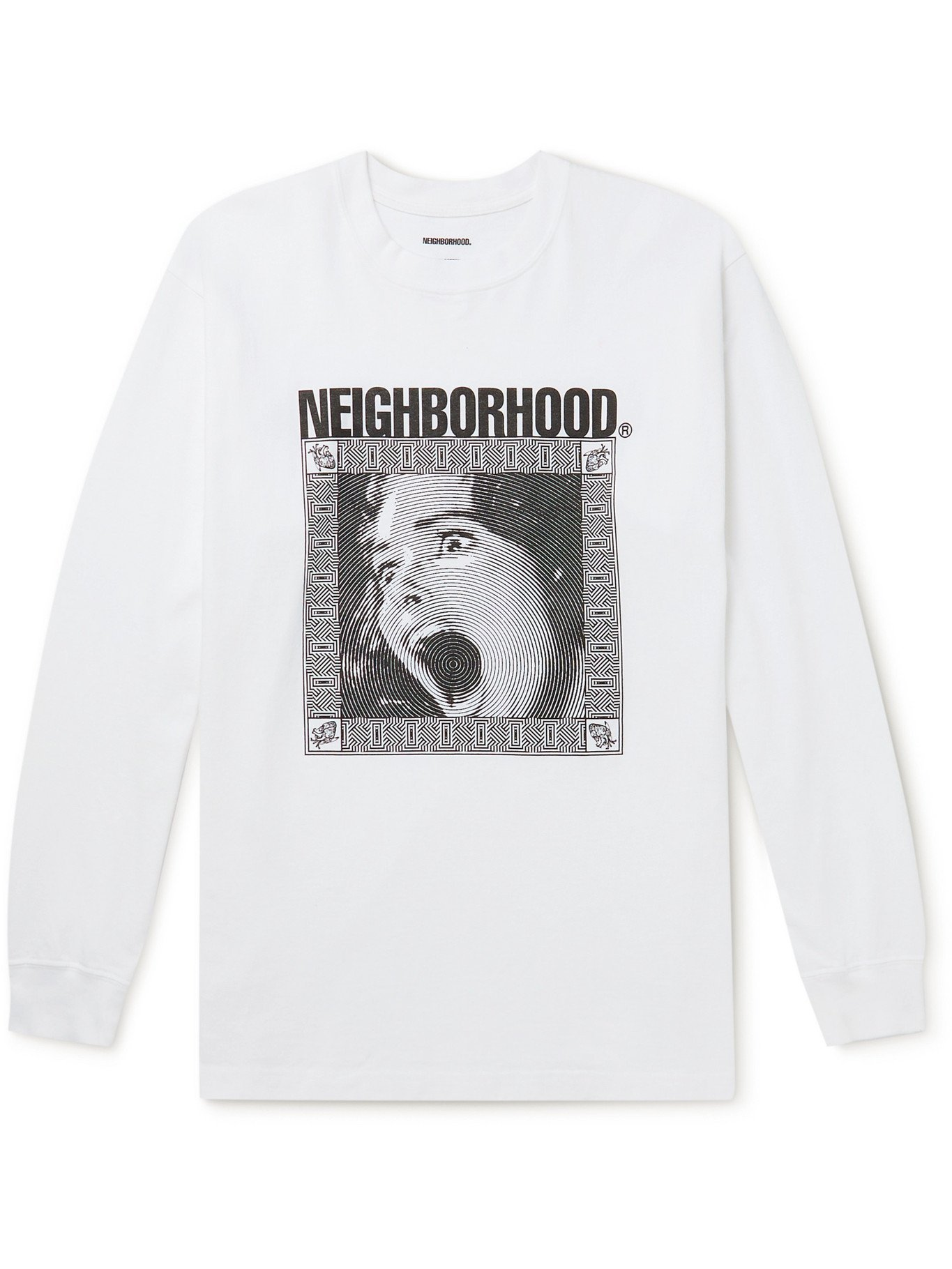 Photo: NEIGHBORHOOD - Printed Cotton-Jersey T-Shirt - White - S