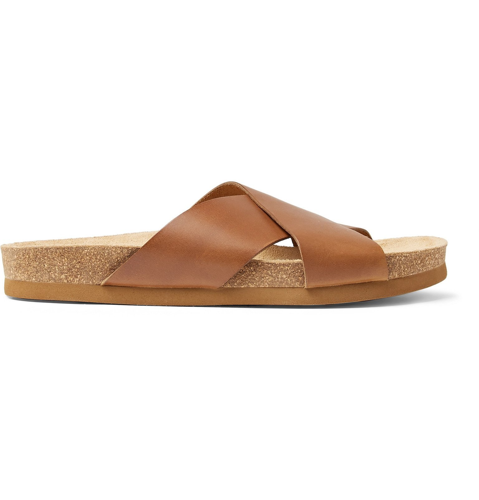Photo: A.P.C. - Leather Slides - Brown