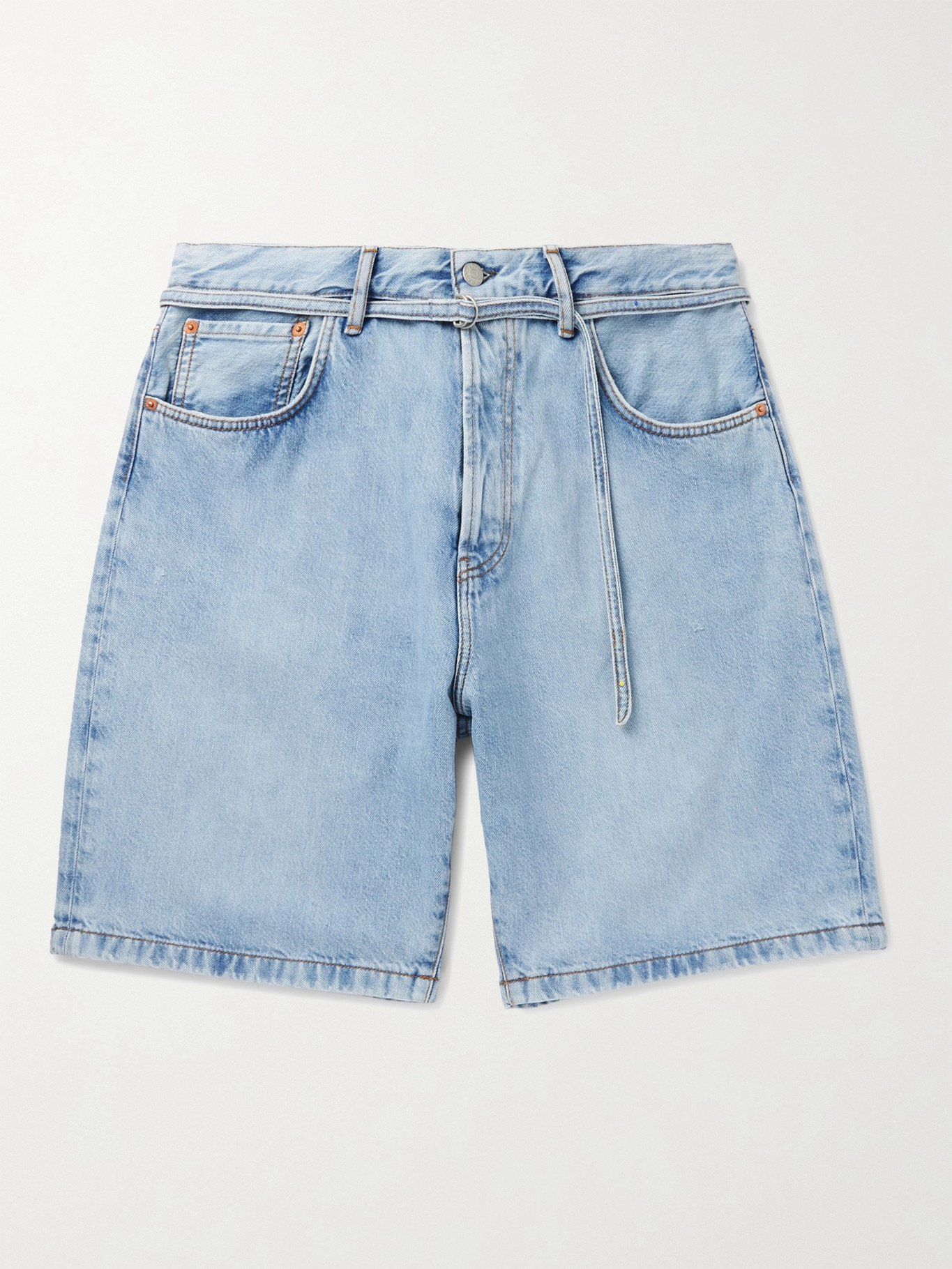 Photo: ACNE STUDIOS - Roland Belted Denim Shorts - Blue