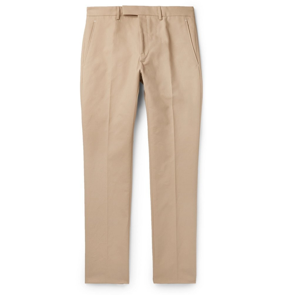 Photo: Berluti - Slim-Fit Tapered Cotton-Twill Chinos - Sand