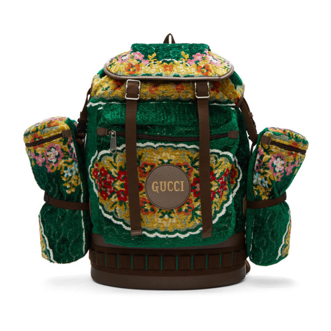 5d88dfb5dbb Gucci Soft GG Supreme Backpack Monogram GG Feline Head Beige Ebony ...