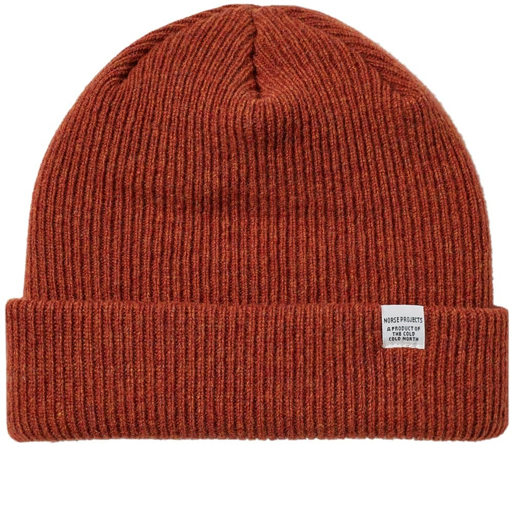 Photo: Norse Projects Beanie Signal Orange
