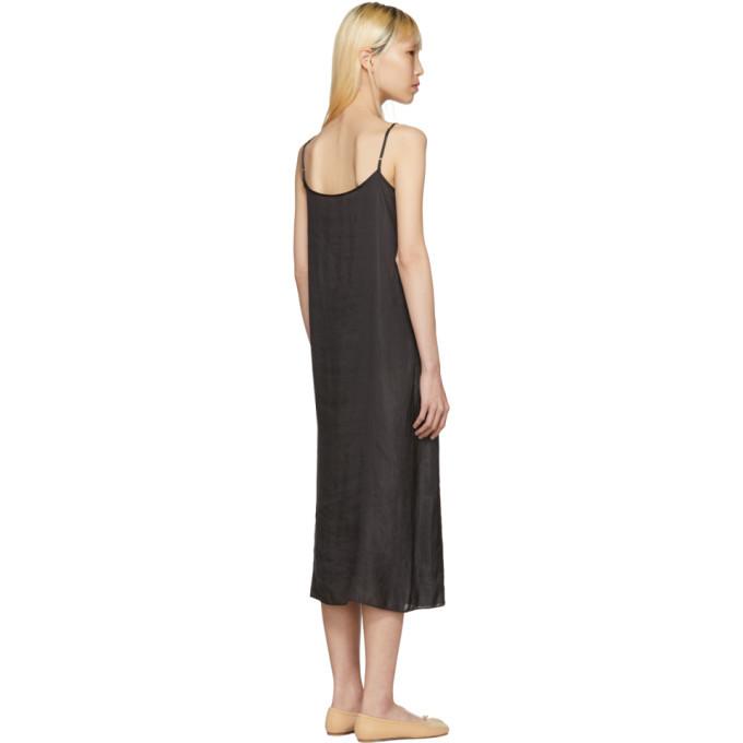 Black Portrait Long Slip Dress Moderne TuTBOde