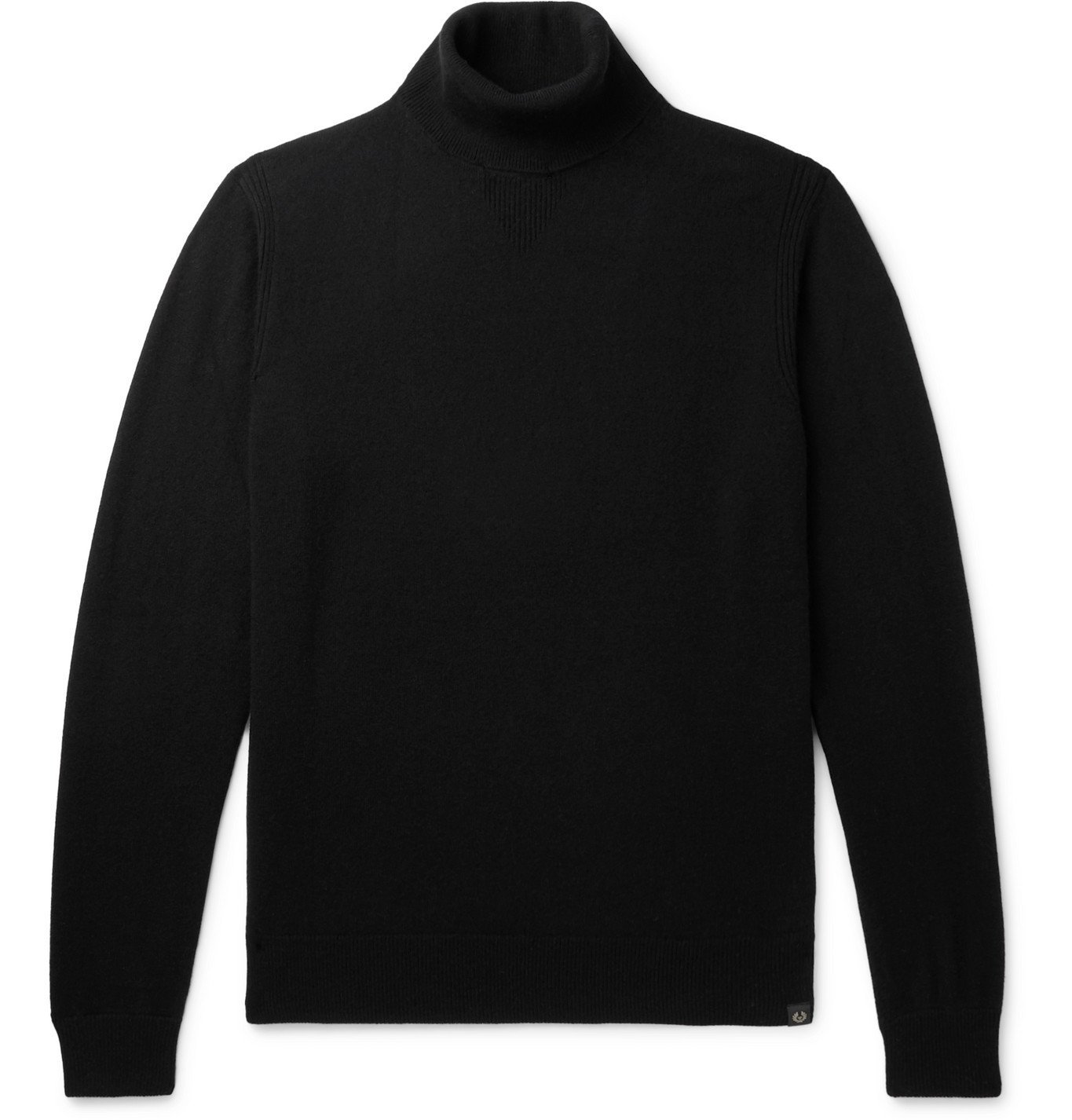Photo: Belstaff - Wool and Cashmere-Blend Rollneck Sweater - Black