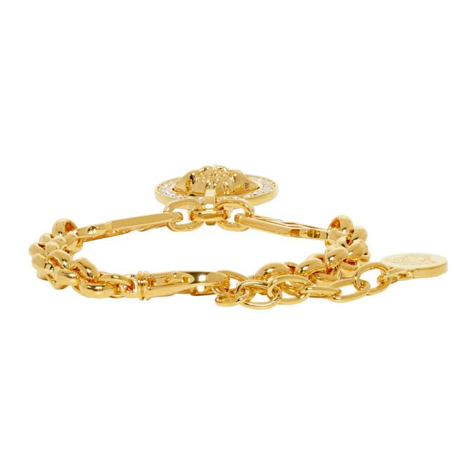 Versace Gold Greek Key Bracelet
