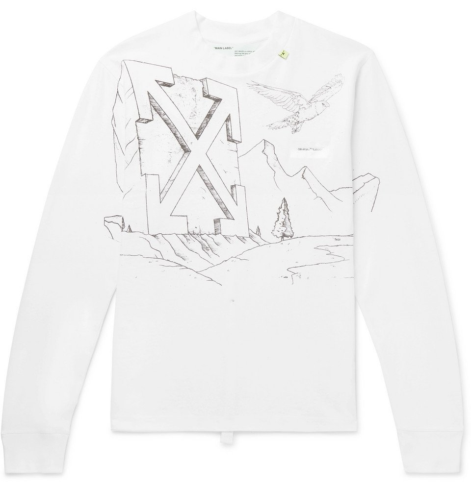 121aebd8742 Photo  Off-White - Printed Cotton-Jersey T-Shirt - White