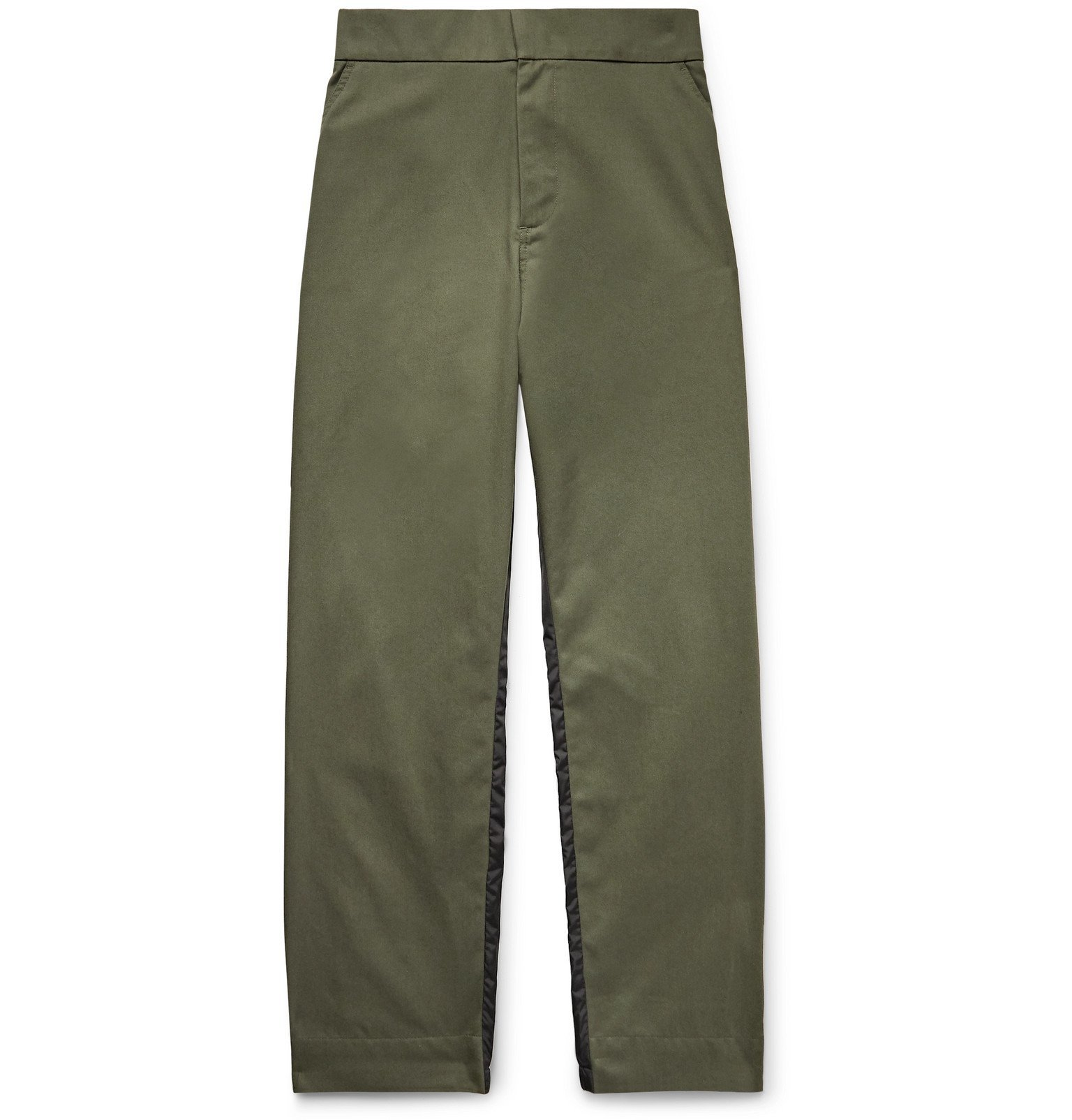 Photo: Moncler Genius - 5 Moncler Craig Green Tapered Gabardine and Nylon Trousers - Green