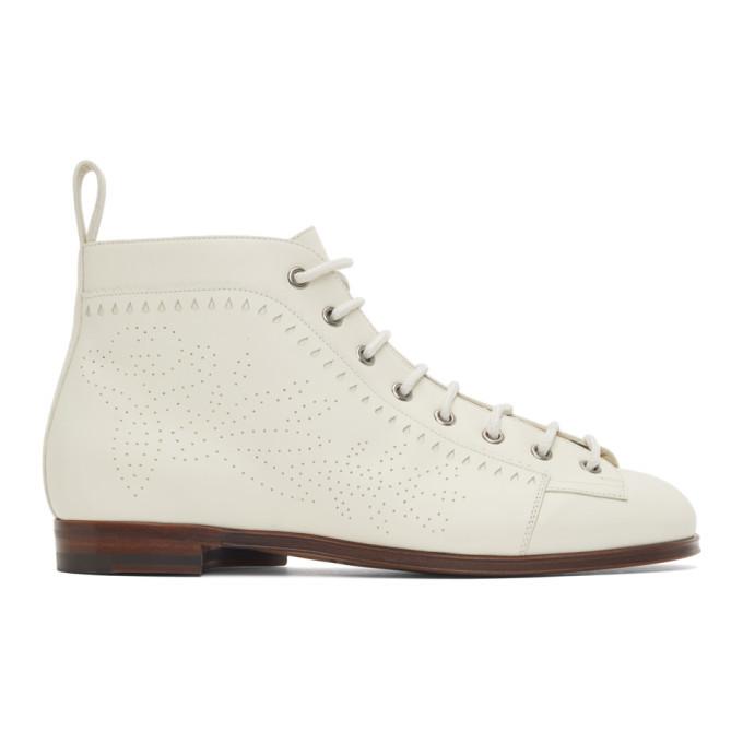 Photo: Gucci White Brogue Boots