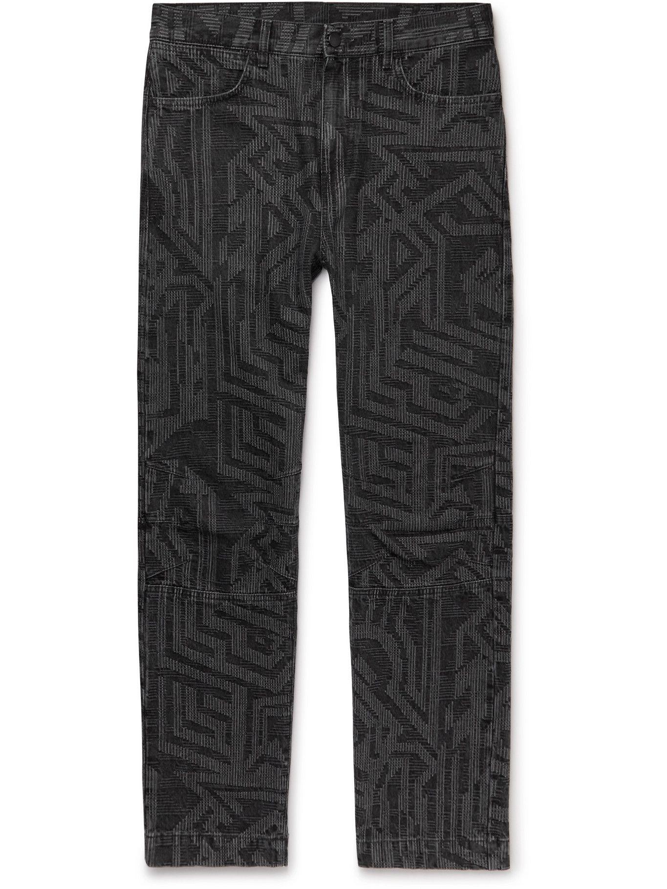 Photo: MCQ - In Dust Jacquard Jeans - Black