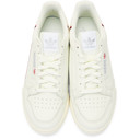 adidas Originals White and Off-White Continental 80 Sneakers