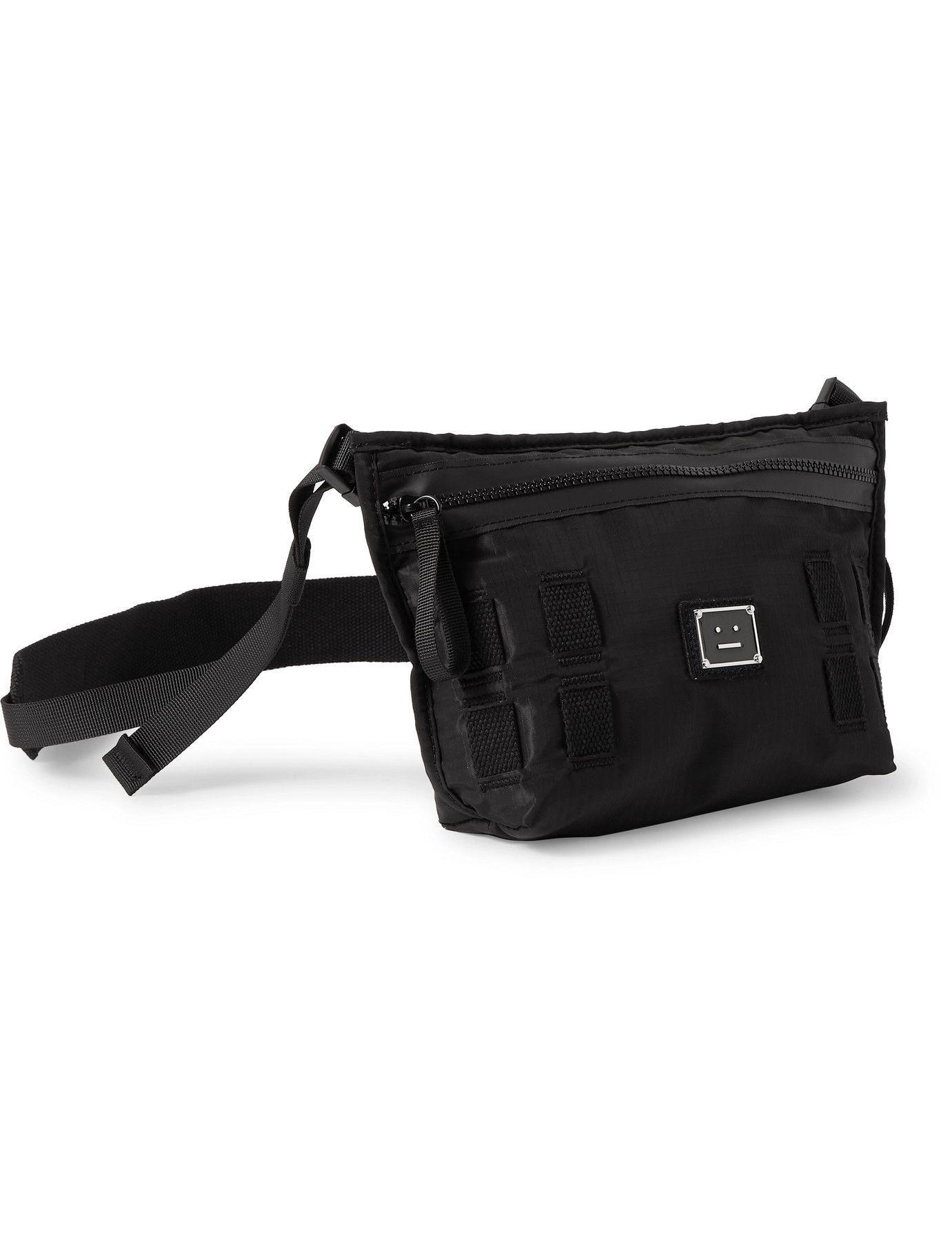 Photo: ACNE STUDIOS - Logo-Appliquéd Ripstop-Shell Messenger Bag
