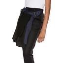 Sacai Black Wool Wrap Skirt Trousers