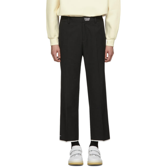 Photo: ADER error Black Genreless Trousers
